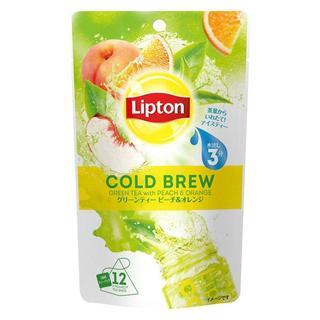 リプトン コールドブリュー グリーンティー ピーチ&オレンジ 3.4g*12袋(茶)