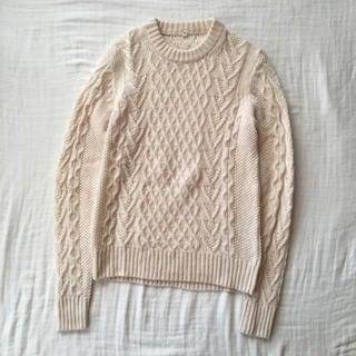 MUJI (無印良品) - 無印良品 muji アラン編みニット セーター M