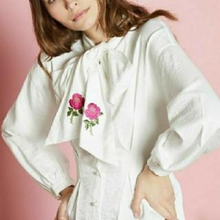 Honey mi Honey - 『新品未使用』sister jane リボン刺繍ブラウス
