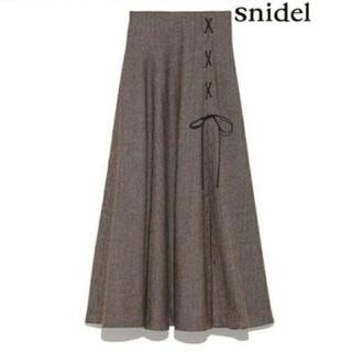 snidel - 新品同様 snidel ♡チェック スリット ロング スカート