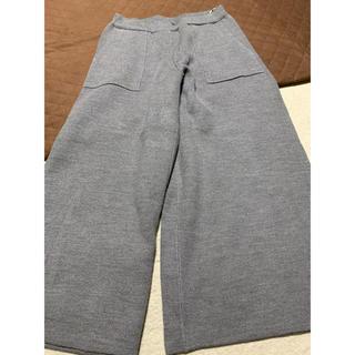 GU - ジーユー  GU ニット パンツ ズボン グレー