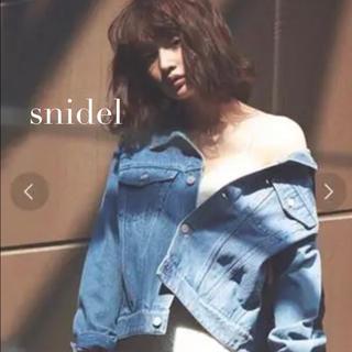 snidel - ❇︎snidel❇︎ 人気色 Gジャン デニムジャケット オーバーサイズ ブルー