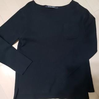 ニコアンド(niko and...)のニコアンド ブラックニットポケットシャツ(Tシャツ/カットソー(七分/長袖))