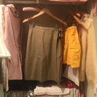 A.P.C - A.P.C. check skirt.
