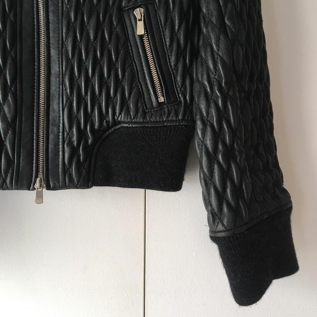 DOUBLE STANDARD CLOTHING(ダブルスタンダードクロージング)のDOUBLE STANDARDCLOTHING 特殊加工レザージャケット レディースのジャケット/アウター(ライダースジャケット)の商品写真
