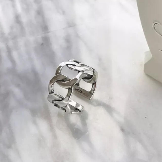 TODAYFUL(トゥデイフル)のチェーン S925 スターリングシルバー  ワイド リング レディースのアクセサリー(リング(指輪))の商品写真
