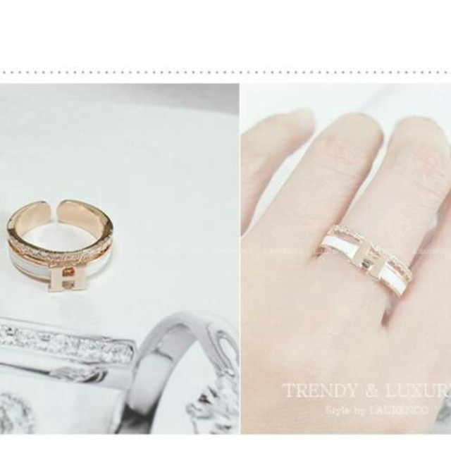 H 指輪 リング ノベルティ レディースのアクセサリー(リング(指輪))の商品写真