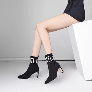 love0128様専用 ブラック ロゴ ソックスブーツ (ブーツ)