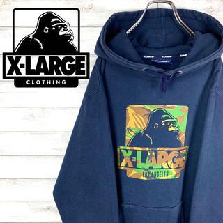 XLARGE - 【激レア】エクストララージ☆ビッグロゴ入りパーカー ゴリラロゴ
