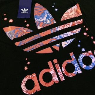 新品 アディダス オリジナルス Tシャツ ブラックx和柄