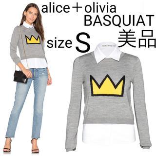 Alice+Olivia - 美品 alice+olivia バスキアコラボ プルオーバー セーター ニット