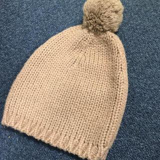ボンポワン(Bonpoint)のボンポワン ニット帽 ベージュ ポンポン 帽子 bonpoint アルパカ(帽子)