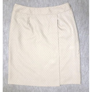 新品 19号 W84cmラップスカート風スカート 事務服 OL制服(ひざ丈スカート)