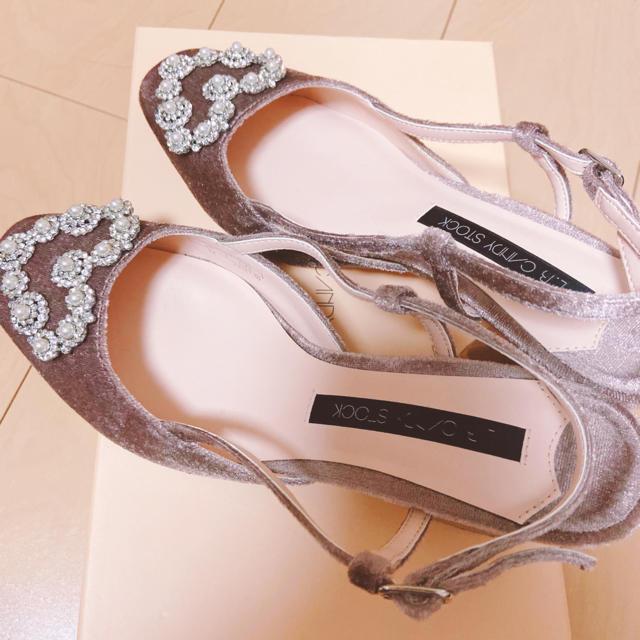 Lily Brown(リリーブラウン)のLily Brown L.B CANDY STOCK ハートビジューパンプス レディースの靴/シューズ(ハイヒール/パンプス)の商品写真