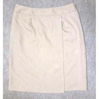 新品 23号 W92cmラップスカート風スカート 事務服 OL制服(ひざ丈スカート)