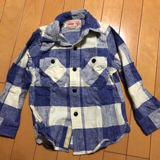 デニムダンガリー(DENIM DUNGAREE)のデニムアンドダンガリー チェックシャツ110センチ(ブラウス)