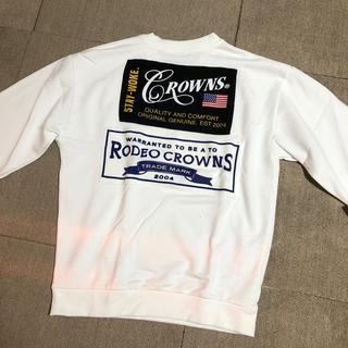 RODEO CROWNS WIDE BOWL - ロデオクラウンズ バッグプリントワッペン スウェット