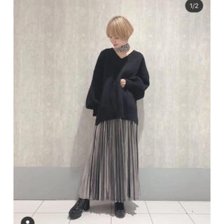 JEANASIS - ジーナシス  グリッターロングプリーツスカート