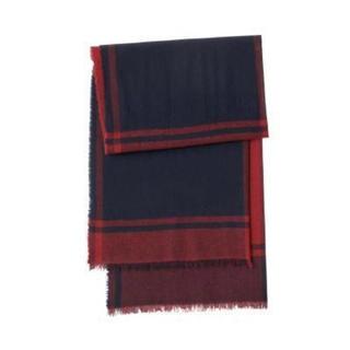新品   無印良品  カシミヤ平織りストール(柄)