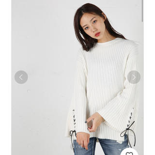 moussy - moussy HL LACE UP SLEEVE SWEATER