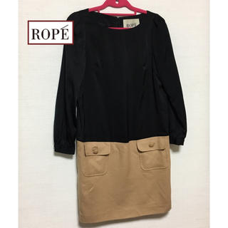 ROPE - ロペ・異素材ワンピ♪ 36 size  (S〜M)