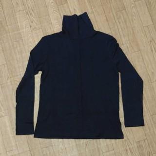 ジーユー(GU)のジーユー ヒートテック ネイビー M(Tシャツ(長袖/七分))