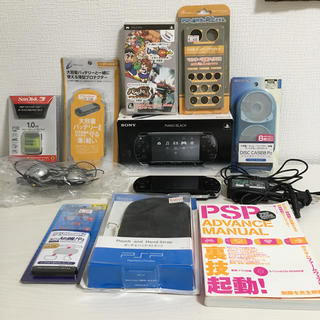 PlayStation Portable - psp2000 改造済み ver.6.6 ピアノブラック 備品セット