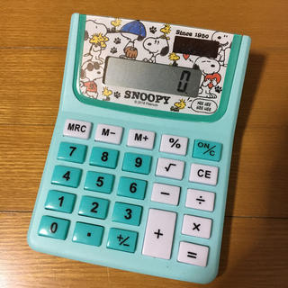 SNOOPY - スヌーピー 電卓 計算機 グリーン