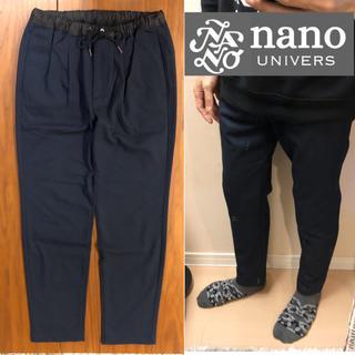 ナノユニバース(nano・universe)のnano universイージーパンツネイビーパンツカジュアルパンツ メンズ(その他)