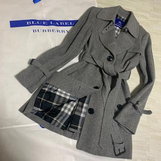 【美品】バーバリー  ロングコート グレー