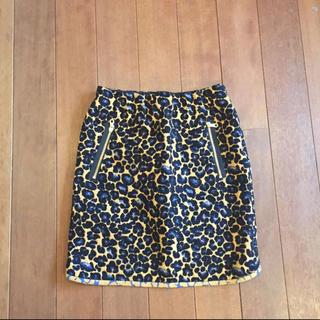 カミシマチナミ(KAMISHIMA CHINAMI)のカミシマチナミ イエロー アシンメトリースカート  38(ひざ丈スカート)