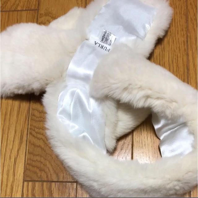 Furla(フルラ)のFURLA  リボンファー マフラー レディースのファッション小物(マフラー/ショール)の商品写真