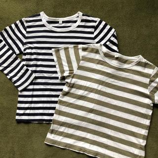 MUJI (無印良品) - 無印良品 ボーダーTシャツ 長袖&半袖 120㎝