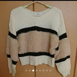 ムルーア(MURUA)のMURUA ◆ フェイクファーコンビニット(ニット/セーター)