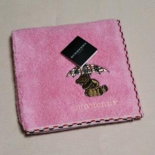 BURBERRY - バーバリー♡ タオルハンカチ くま刺繍
