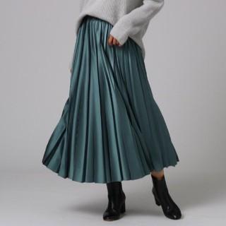 アンタイトル(UNTITLED)のUNTITLED モードサテンプリーツスカート(ロングスカート)