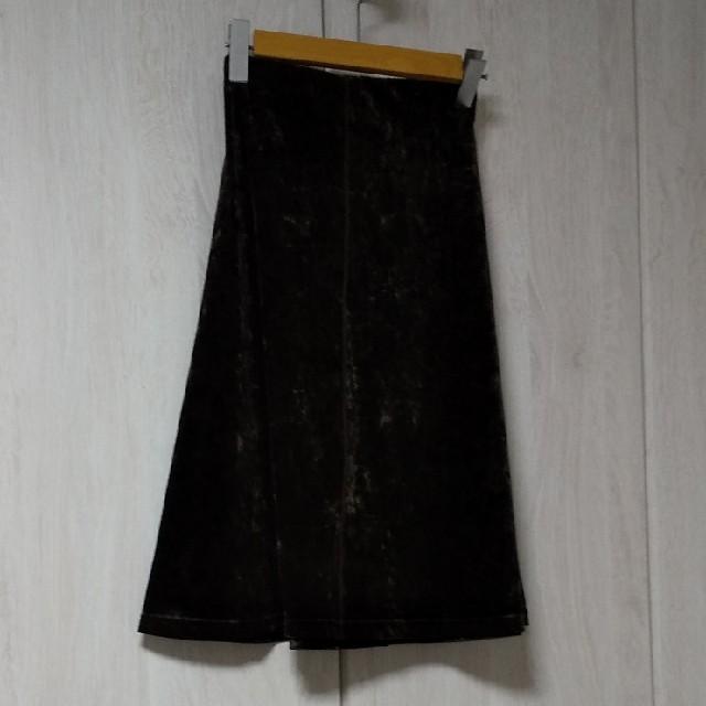 KRIZIA(クリツィア)のベロアスカート レディースのスカート(ひざ丈スカート)の商品写真