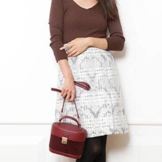 アプワイザーリッシェ(Apuweiser-riche)のチェックジャガード台形スカート(ひざ丈スカート)