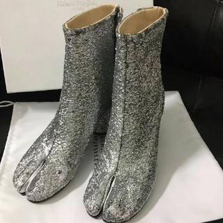 マルタンマルジェラ(Maison Martin Margiela)のmaison margiela 足袋ブーツ グリッター 新品(ブーツ)