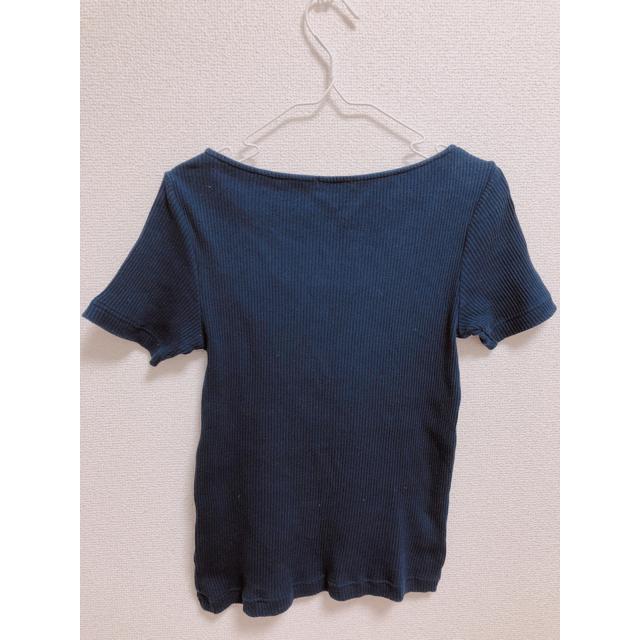 GU(ジーユー)のニットティーシャツ レディースのトップス(Tシャツ(半袖/袖なし))の商品写真