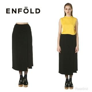 ENFOLD - エンフォルド スカートパンツ ブラック