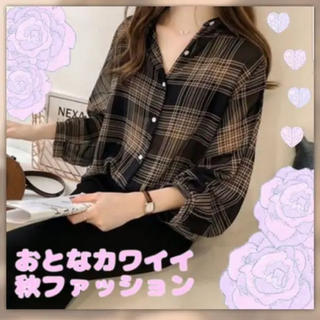 [今年の秋冬大注目]大人シックなチェックシャツ即購入大歓迎で販売しています♡♡(シャツ/ブラウス(長袖/七分))
