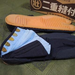 地下足袋 25cm 5枚コハゼ 紺(その他)