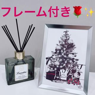 インテリアポスター フォトフレーム アートポスター シャネル クリスマス