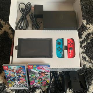 Nintendo Switch - [美品]任天堂 Switch  スマブラ、スプラ2セット