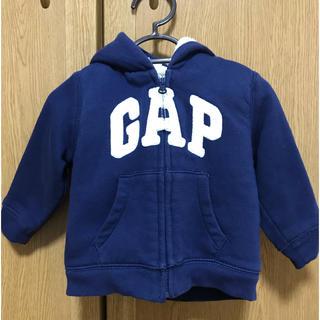babyGAP - Baby GAP🧸 裏ボアスウェットフルジップパーカー 80cm