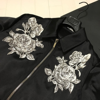 ディオールオム 18ss ブルゾン 薔薇 rose