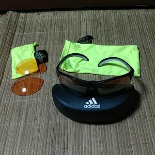 アディダス(adidas)のアディダス A123 ランニング用サングラス+スペアレンズ(サングラス/メガネ)