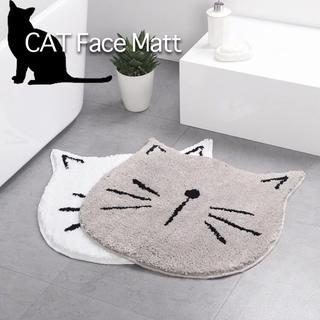 かわいい猫型バスマット♡玄関トイレマット♡ねこ好きねこばか猫グッズ♡送料無料