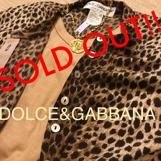 DOLCE&GABBANA - Dolce&Gabbana❤︎ 100%カシミヤヒョウ柄カーディガン❤︎